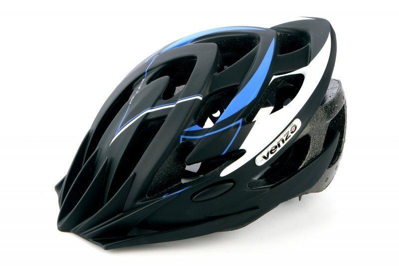 Шлем VENZO VZ-F26M-010, MTB, синий, L(57-60), 240гр