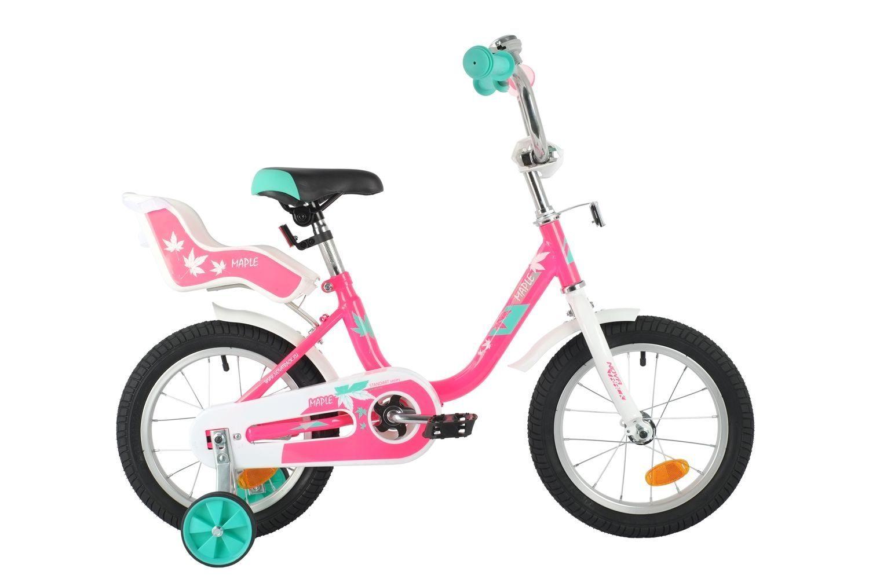 """Велосипед NOVATRACK MAPLE 14"""", сидение для куклы"""