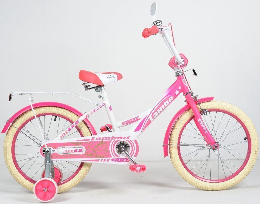 "Детский велосипед 18"" LAMBO передний тормоз, бежевые покрышки"