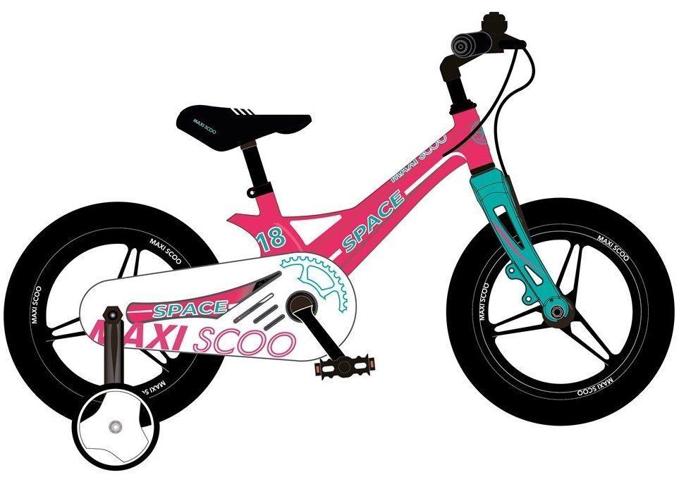 """Детский 2- колесный велосипед Maxiscoo Space Делюкс,18"""" (2021)"""