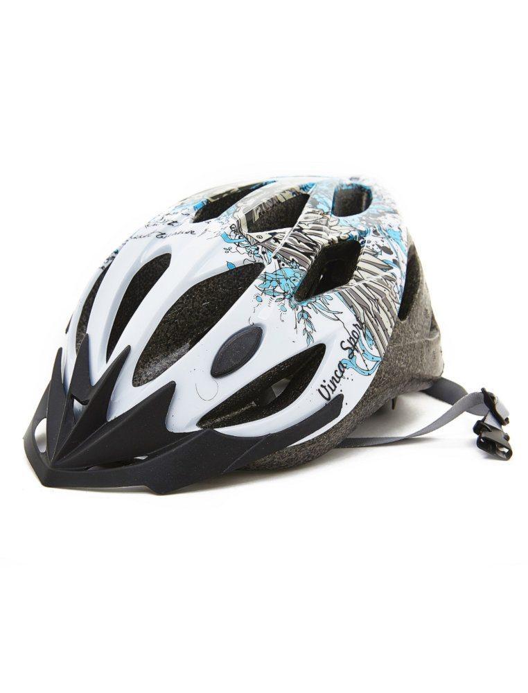 Шлем подростковый, размерыМ(56-59),цвет белый, Vinca sport