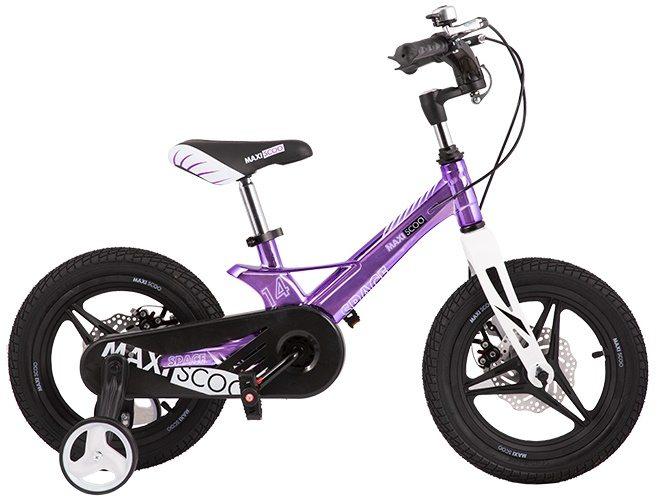 """Детский 2- колесный велосипед Maxiscoo Space Делюкс,14"""" (2020)"""